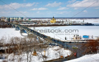 April view of Strelka Nizhny Novgorod Russia