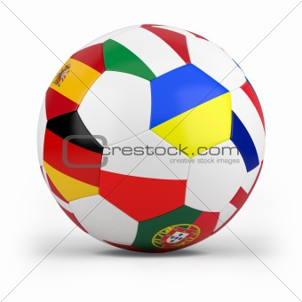 football with european flags