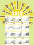 2013 diner themed calendar