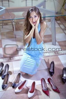 consumer with shoes