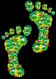 Flowers footprints