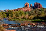 Cathedral Rock as seen from Oak Creek Crossing in Sedona.