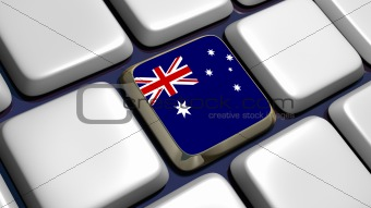 Keyboard (detail) with Australian flag key