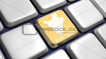 Keyboard (detail) with Burundi key