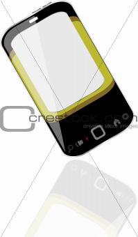 modern smart phone for mobile communication