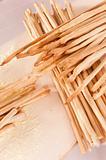 Freshly baked breadsticks