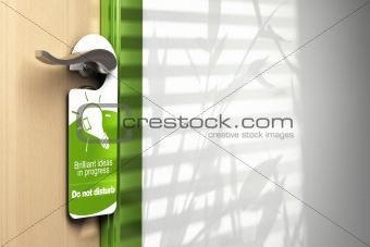 door hanger onto a handler