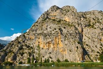 Canyon of Mountain River near Split, Croatia