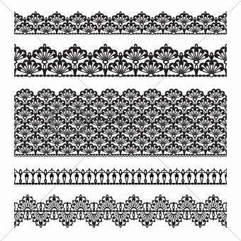 Set of lace trims