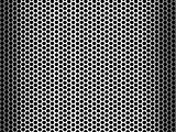 Abstract shiny stainless steel metallic grid