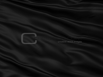 Wavy black textile background with rippled effect