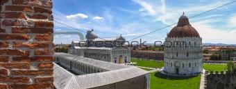 Panoramic view of Piazza dei Miracoli Pisa