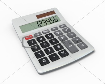 Calculator, close-up view
