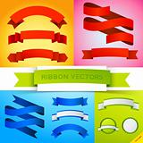 Vector Ribbon Banners