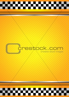 Racing background, taxi cab template