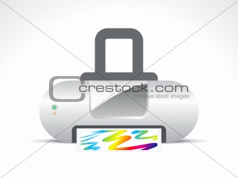abstract printer icon