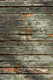 Old Green chipping wood wall