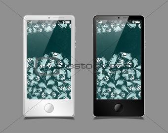touchscreen smartphone, vector model