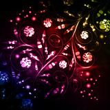 floral background, neon abstract