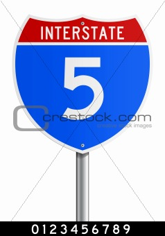 Editable Interstate sign