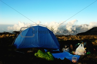 Camping on the top of the mountains