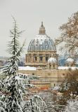 saint peter cathedral white under the snow