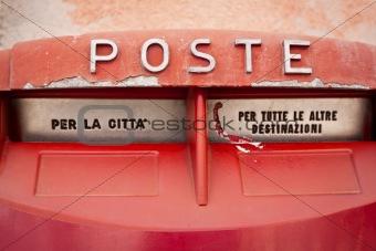 old vintage retro mailbox