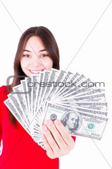 Money In Teenager Hands