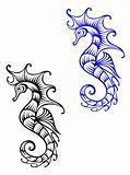 Underwater seahorse animal