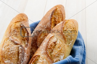 Crusty Artisan French Baguette Bread