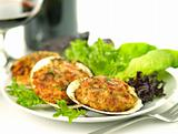 stuffed clams dinner