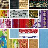collage of colorful pieces of fabric