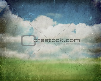 Abstract Grunge Landscape
