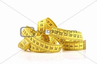 tailor measuring tape isolated on white background