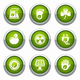 Green ecology buttons