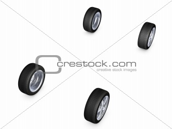 alloy wheel tire