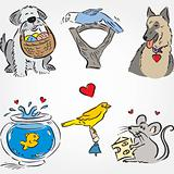 Drawn Pets Set