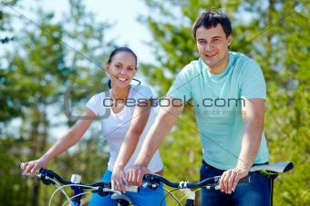 Couple of cyclists
