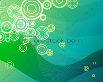 Background pattern in green