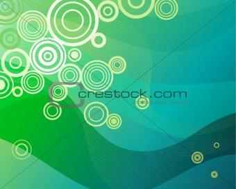Background pattern in green