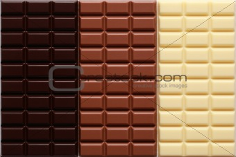 Three sorts of chocolate