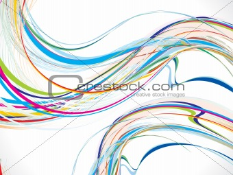 abstract colorful wave background with flow