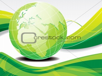 abstract eco background with globe