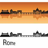 Rome skyline in orange background
