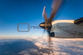 Airplane Propeller in Flight