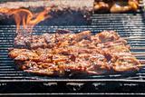Pork Chops on a BBQ
