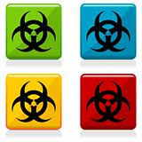 Biohazard sign buttons