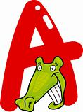 A for alligator