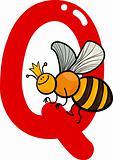 Q for queen bee