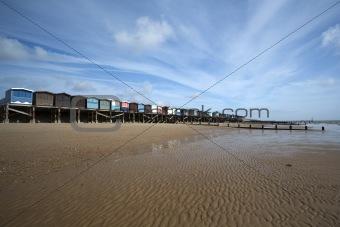 Beach Huts, Frinton, Essex, England
